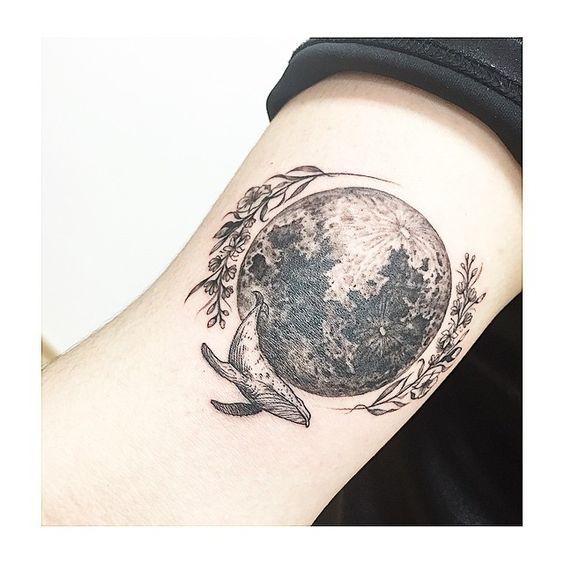 Tattoo desenhos e muito mais lua tattoo desenhos e inspira es para tatuar - Tatouage pleine lune ...
