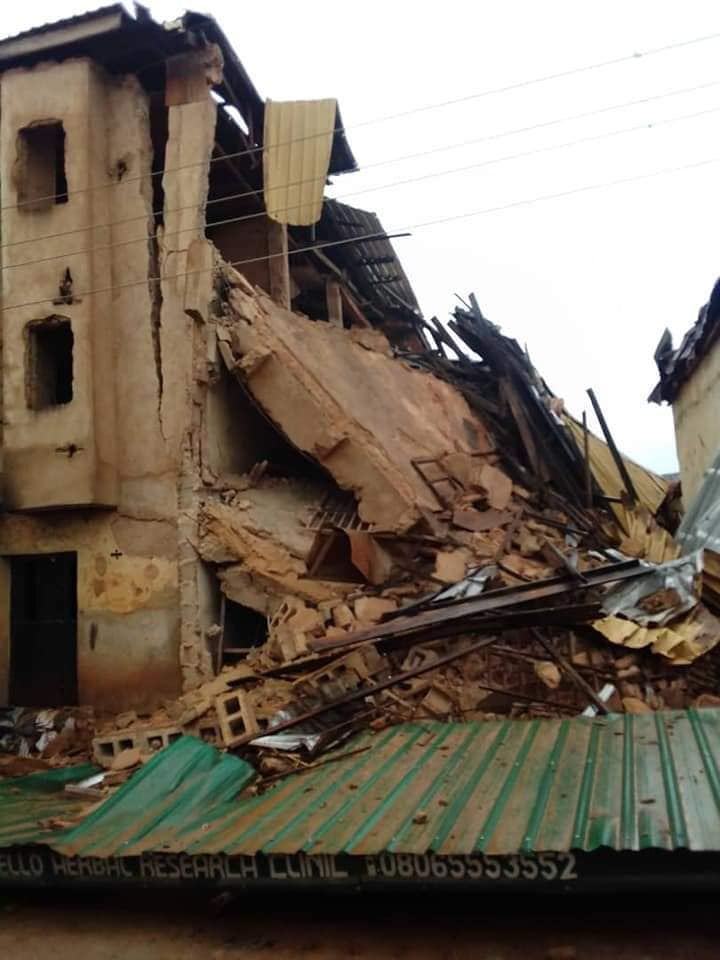 Three-storey building collapses, stuck occupants in Jos