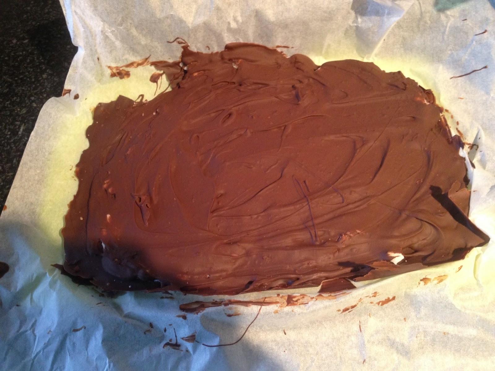 Stap 3 chocoladelaag