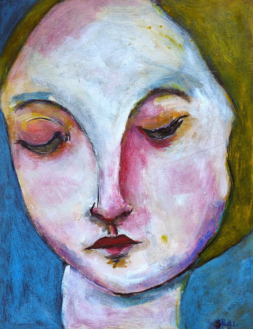 Nouvelle peinture femme au visage baiss - Peinture sur visage ...