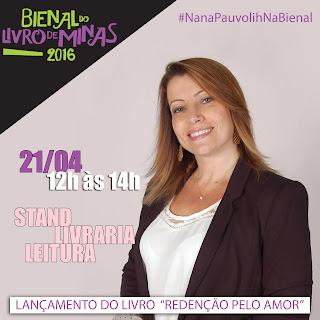 Nana Pauvolih na Bienal do Livro de Minas gerais