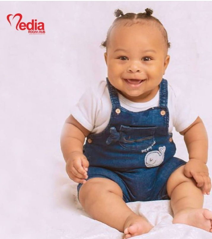 Tonto Dikeh ex-husband, Churchill Olakunle and wife, Rosy unveils their son's face