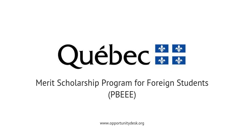 Québec Merit Scholarship Program for Foreign Students to