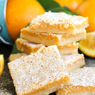 Orange Amaretto Citrus Bars