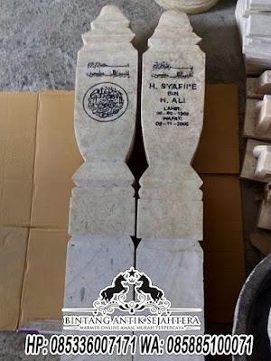 Nisan Marmer, Model Batu Nisan Islam, Batu Nisan Marmer Malang