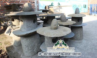 Kap Lampu Batu Alam, Kerajinan Batu Alam, Lampu Taman Batu Alam Bali