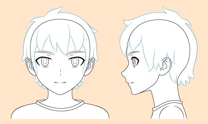Gambar rambut anak anime