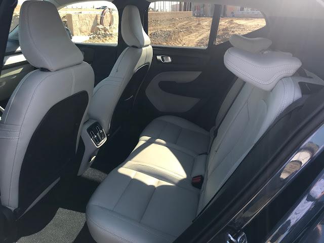 Rear seat in 2020 Volvo XC40 T5 AWD Inscription