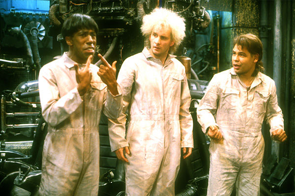 """Cat, Rimmer and Lister in Red Dwarf V's """"Back to Reality"""""""