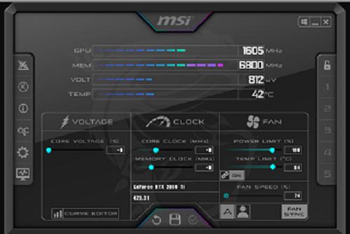 Tải MSI Afterburner - Ép xung, tăng tốc card đồ họa máy tính a