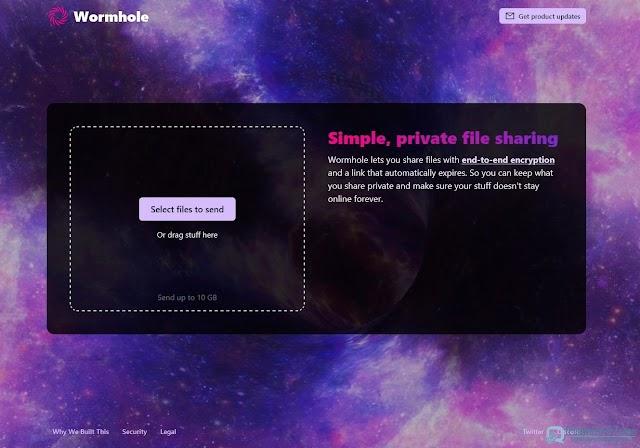 Wormhole : un service de partage de fichiers sécurisé pour envoyer des fichiers jusqu'à 10 Go