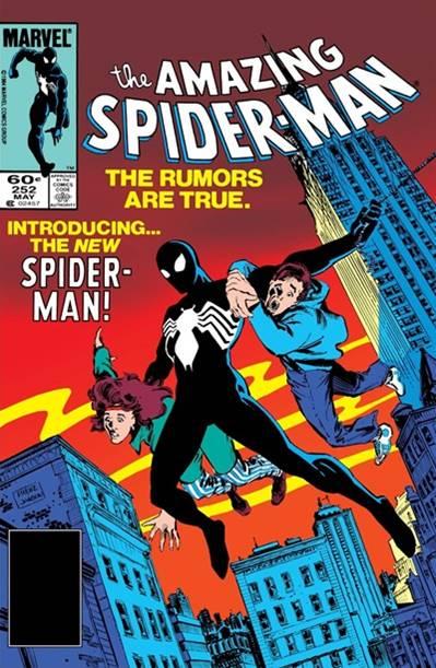 Primera aparición del traje negro de Spiderman