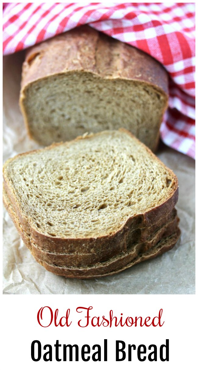 New England Old Fashioned Oatmeal Bread #bread #oatmeal