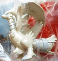 Reshiram figure pearly version Takara Tomy Monster Collection 2011 Seven Eleven lunch box attachment