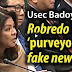 Badoy says Robredo is a purveyor of Fake News.