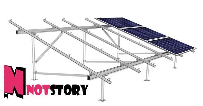 الطاقة الشمسية للمنازل - شاسيه تثبيت الالواح الشمسية
