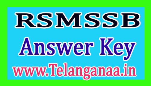 RSMSSB Rajasthan Gram Sevak Set Wise (A/B/C/D) Answer Key 20178