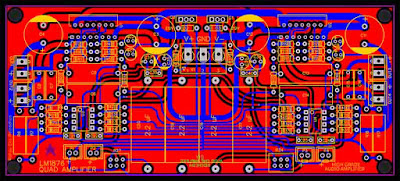 PCB Layout LM1876 Quad (4 Channel) Amplifier Gainclone High-End