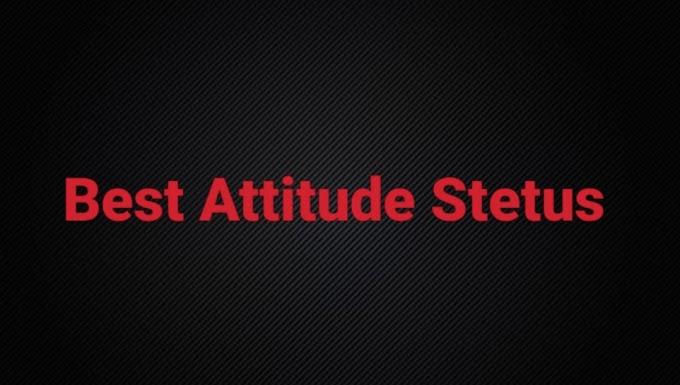 Hindi Attitude Stetus