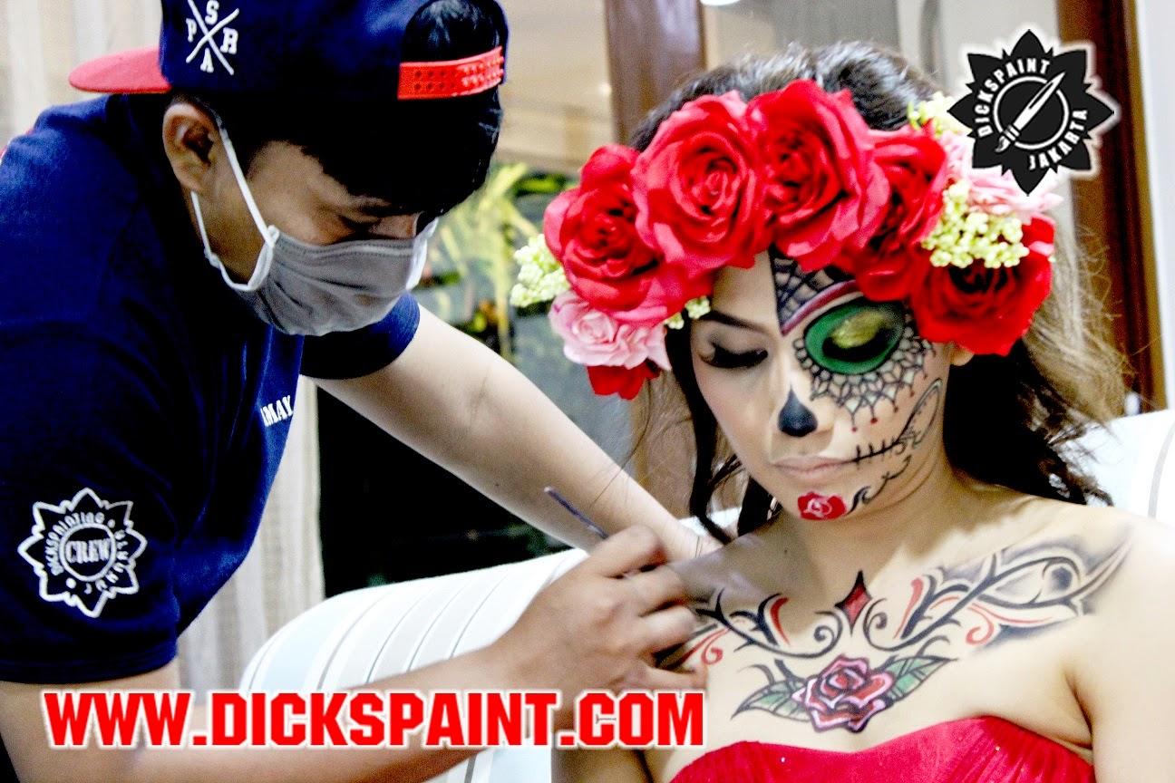 face painting horror sugarskull jakarta