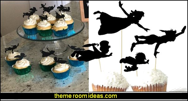 neverland party decorations Peter Pan Cupcake Toppers peter pan party