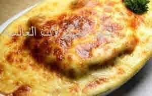 صينيه الارز بالقشطه والجبن