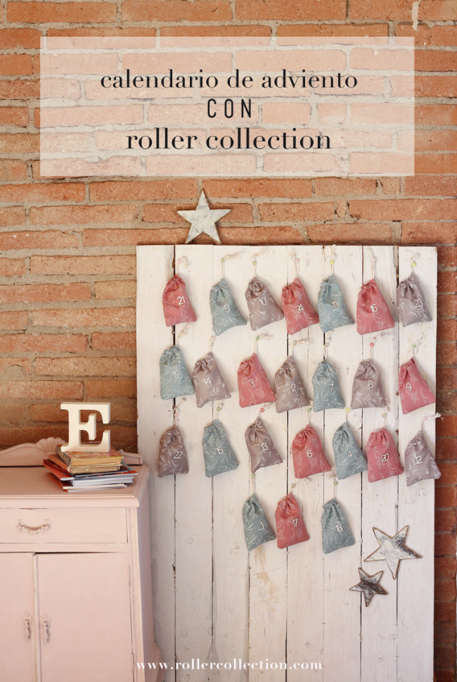 Calendario Adviento Chalk Paint Roller Collection