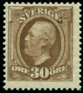 Sweden King Oscar I 30 Ore