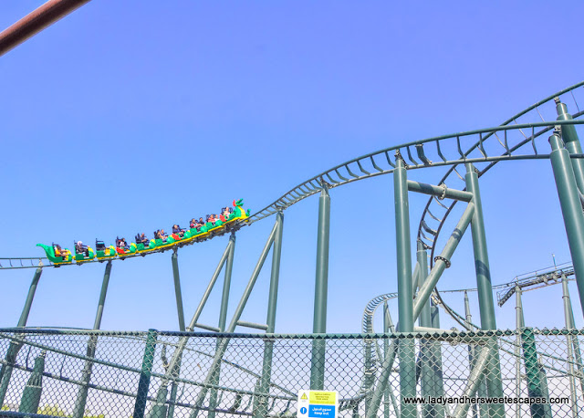 dragon roller coaster in Legoland Dubai