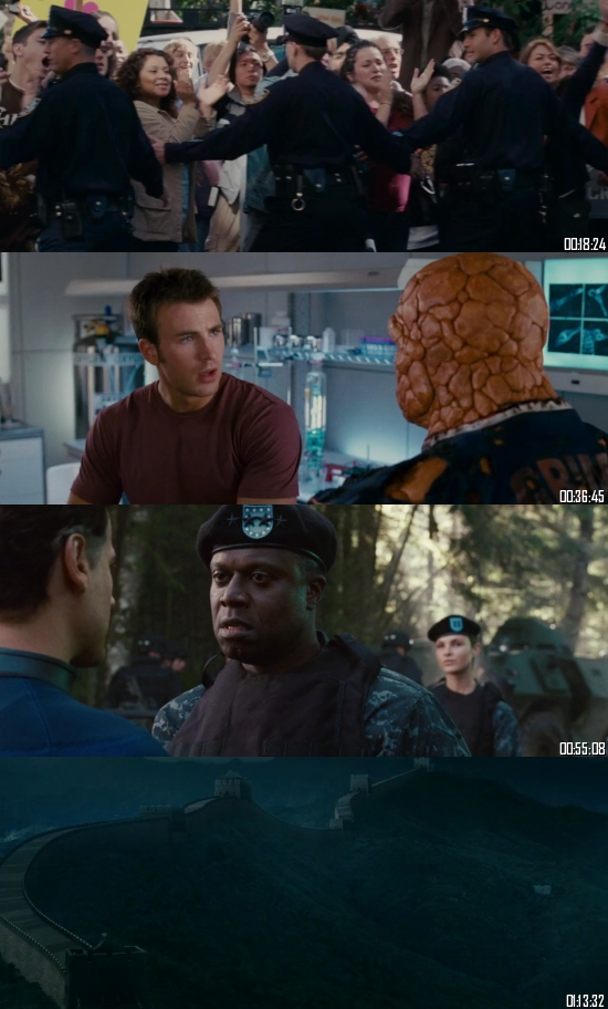 Fantastic Four Rise Of The Silver Surfer 2007 BRRip 720p 480p Dual Audio Hindi English Full Movie Download