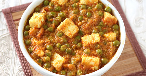 SHAHI MUTTER PANEER IN CASHEW GRAVY