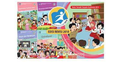Buku K13 Kelas 1 - 6 Semester 1 dan 2 SD/MI Revisi 2018
