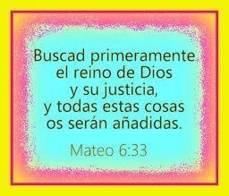 Buscar el reino de Dios y su justicia primero