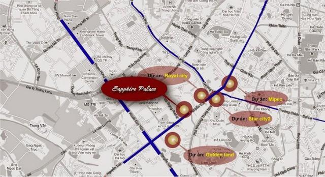 Vị trí chung cư Sapphire Palace số 4 Chính Kinh