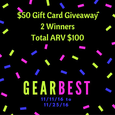 Enter the GearBest World Wide Giveaway. Ends 11/25