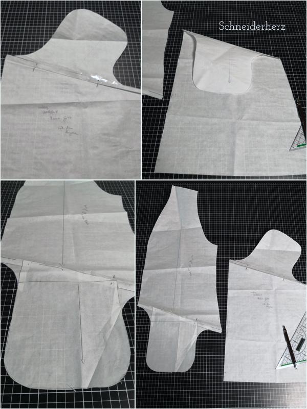Schnittanpassung Nahttasche angeschnitten