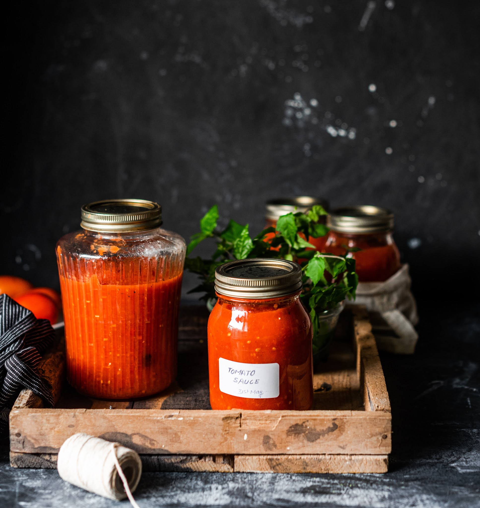 Canning tomato sauce
