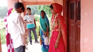 #JaunpurLive : थाने के बगल के मंदिर में प्रेमी युगल ने रचाई शादी