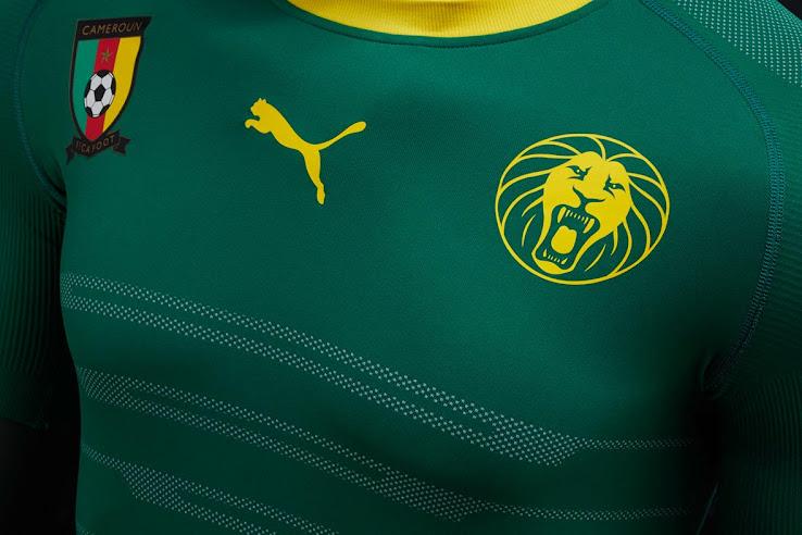 Nueva camiseta titular Puma de Camerún