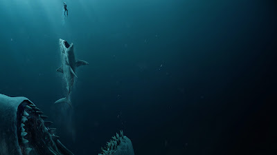 the meg movie photos shark