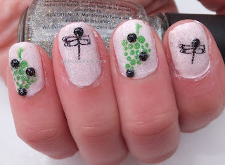 Stamping Dragonfly Nails