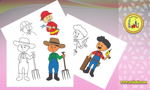 رسومات للطبع والتلوين للأطفال