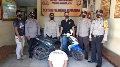 Hilangkan Motor Temannya, Warga Tanggamus Ditangkap Polsek Sumber Jaya Lambar