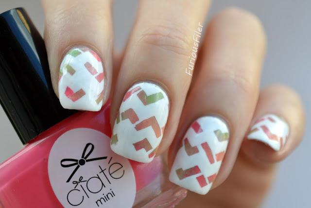 #31dc2015 chevron geometric modern nail art