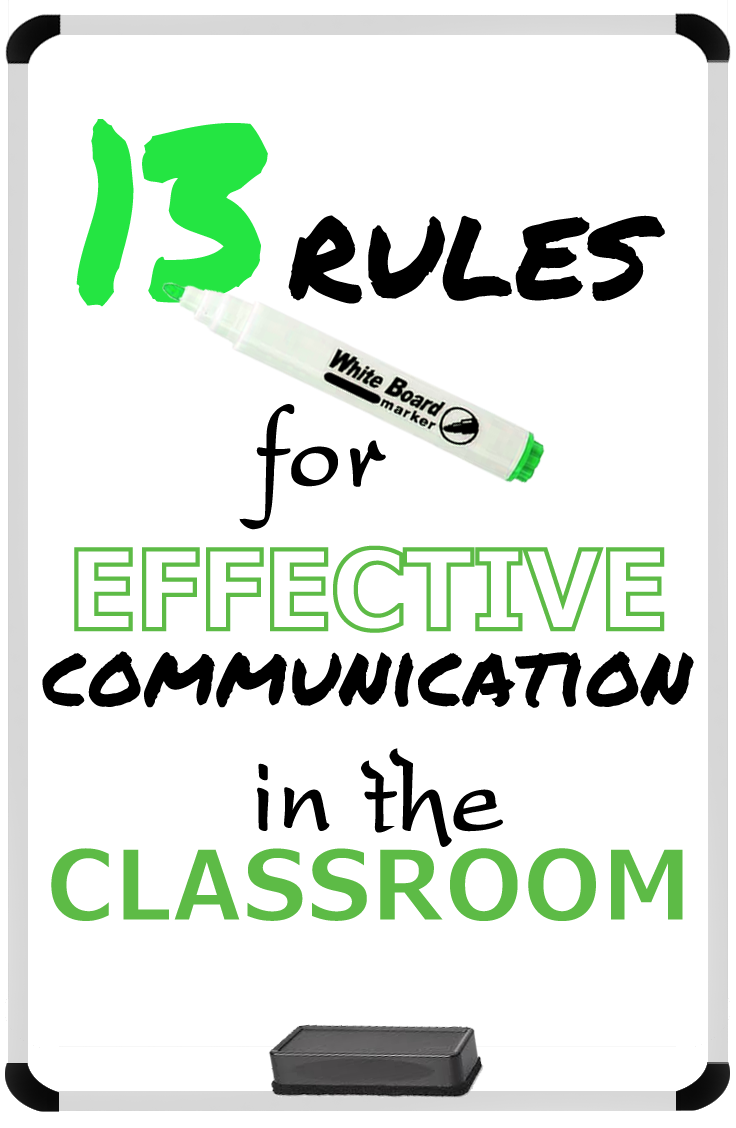 The 13 Rules for Effective Communication in the Classroom