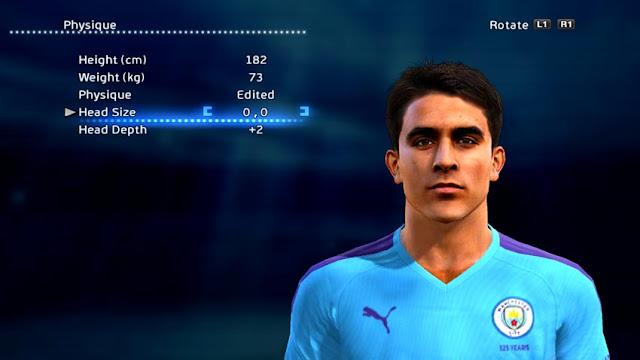 Eric Garcia (Manchester City) Face PES 2013