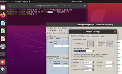 Docklight On Ubuntu Linux 20.04 - Serial Port Configuration