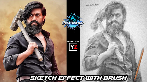 pencil sketch photoshop tutorial | Yzcreation |