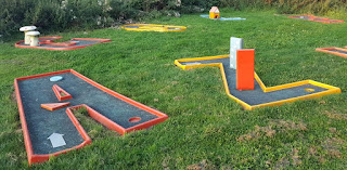 Crazy Golf course at Belton Woods in Grantham, Lincolnshire