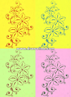 How to draw Embroidery flower design, flower design for machine embroidery